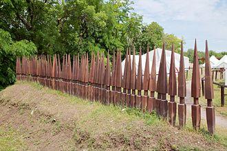 Sudis (stake) - Image: Pilum murale 01
