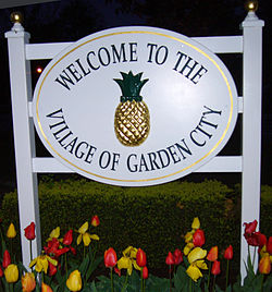 Incorporated Village Of Garden City. Welcome Sign
