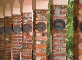 Pine Crest School - Traditional Brick Columns on the Pine Crest campus.
