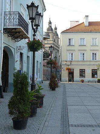 Piotrków Trybunalski - Evangelical church near Market Square
