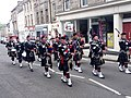 Pipe band in high street in Jedburgh.jpg