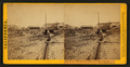 Placer Mining at Volcano, Amador County, The dump and sluice, from Robert N. Dennis collection of stereoscopic views.png