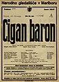 Plakat za predstavo Cigan baron v Narodnem gledališču v Mariboru 24. februarja 1927.jpg