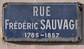 Plaque Frédéric Sauvage (Le Havre, France).jpg