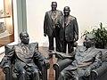 Plaster Sculptures of Chou En-lai, Leonid Brezhnev, Nikita Khrushchev, and Mao Zedong - Richard M. Nixon Presidential Library & Birthplace - Yorba Linda, CA - USA (6919724393).jpg