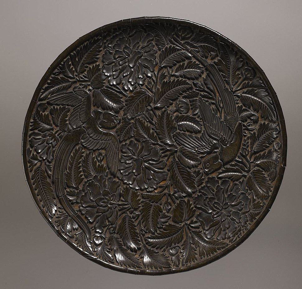 Plate; Yuan Dynasty; Lacquer, wood, and fabric