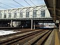 Platform and overpass of Takaoka Station 20150121.JPG