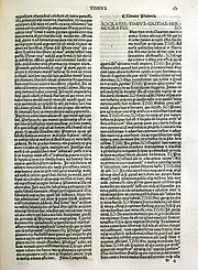 Early modern latin incunabulum of Plato's Timaeus, 1491