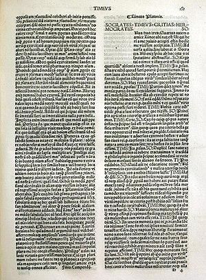 Atlantis - A fifteenth-century Latin translation of Plato's Timaeus