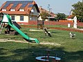 Playground and Statue of Saint Christopher. - Simontornya.JPG
