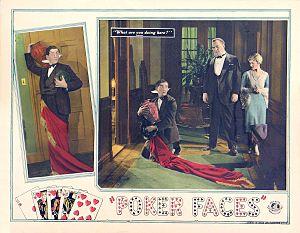 Harry A. Pollard - Lobby card for Poker Faces (1926)