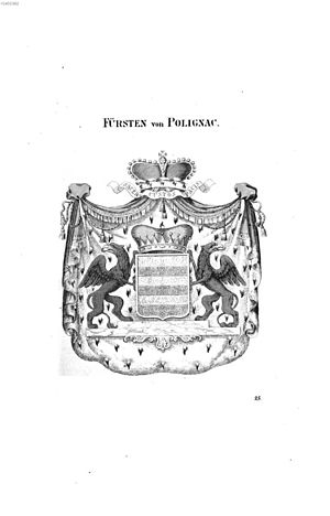 Duke of Polignac - Princely arms of the Polignac family
