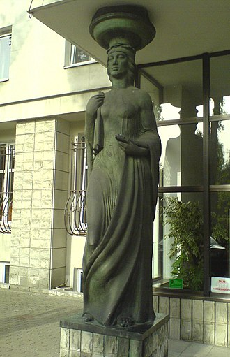 Polish Patent Office - Image: Polish Patent Office sculpture