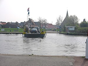 Eemdijk - The ferry, with Eemdijk on the other side.