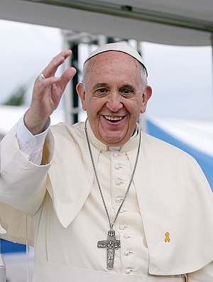 Yellow ribbon - Pope Francis wearing a yellow ribbon on his 2014 trip to South Korea