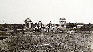 Avenida Sarmiento - Palermo gates in 1875.