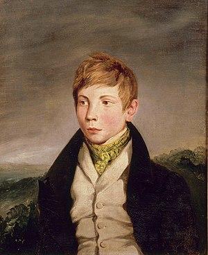 Richard Lahautière - Richard Lahautière. Portrait by Eugène Delacroix (1828).