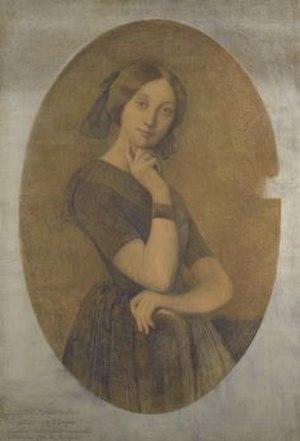 "Portrait of Comtesse d'Haussonville - First oil on canvas version of ""Portrait of Comtesse d'Haussonville"", 1842"