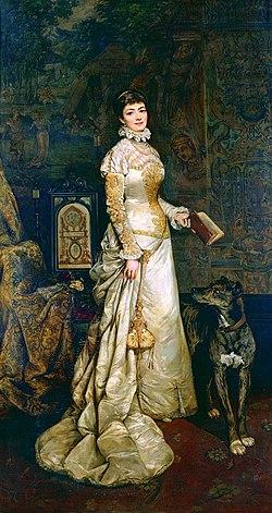 Portret Heleny Modrzejewskiej autorstwa Tadeusza Ajdukiewicza z 1880