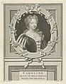 Portret van Caroline van Anspach, koningin van Groot-Brittannië, RP-P-1900-A-22188.jpg