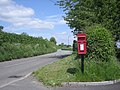 Post box and the road to Much Wenlock - geograph.org.uk - 832886.jpg