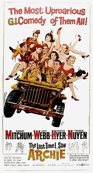 The Last Time I Saw Archie - Theatrical release poster