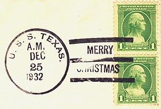 Postmark - USS ''Texas''