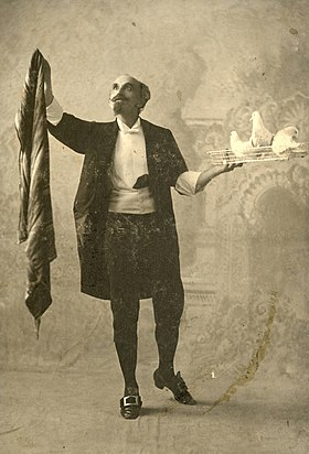 Powell, stage magician (SAYRE 8843)