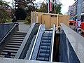Praha, Nové Město, Karlovo náměstí, Rekonstrukce eskalátorů.JPG