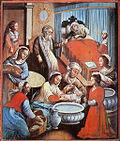 Cenas da Natividade de Maria, Igreja de N.S. dos Prazeres dos Montes Guararapes, Pernambuco. A evidente voz popular no estilo deste mestre an�nimo