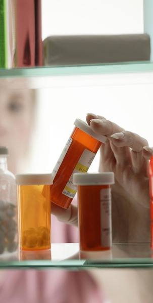 Prescription medication being dispensed