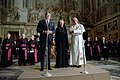President Ronald Reagan and Nancy Reagan with Pope John Paul II at the Vatican Library.jpg