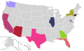 Presidential Candidate Home State Locator Map, 2008 (United States of America) (Expanded).png