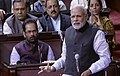Prime Minister Narendra Modi addressing the Rajya Sabha in March 2015.jpg