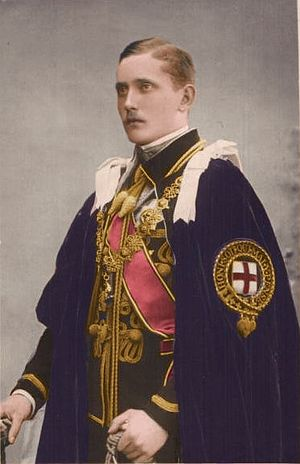 Prince Arthur of Connaught in the robes of the...