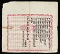 Printed article in Chinese on pink bordered grid. Wellcome L0040998.jpg