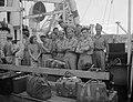 Priok met de Groote Beer arriveerden vijftien nieuwe contactofficieren van de D, Bestanddeelnr 13419.jpg