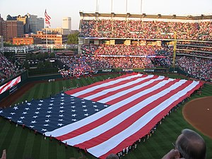 Progressive Field - Pregame festivities at game one of the 2007 American League Division Series