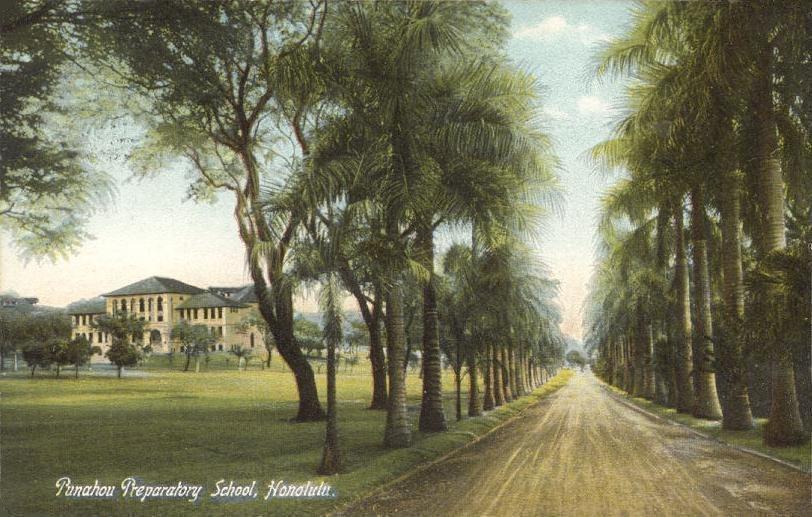 Punahou Preparatory School, Honolulu (1909 postcard)