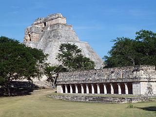 Pyramid of the Magician Mayan pyramid in Mexico