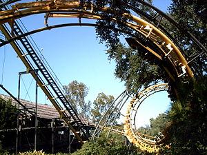 Python (Busch Gardens Tampa Bay) - Python entering its second corkscrew