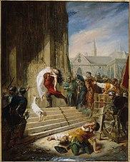Quasimodo sauvant Esméralda des mains de ses bourreaux