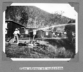 Queensland State Archives 4564 Fire stream at cubicles Stanley River Township c 1936.png