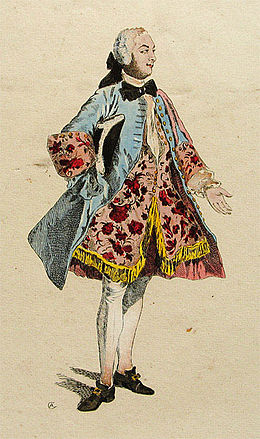 Quinault-Dufresne as the Count of Jupiere in 'Le Glorieux' by Destouches - Theatergeschichtliche Sammlung Kiel.jpg