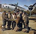 RAF crew with Boeing Fortress IIA at Lajes c1943.jpg