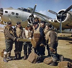 RAF crew with Boeing Fortress IIA at Lajes c1943