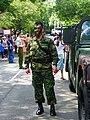 ROC Military Police Sergeant Standing beside Hamvee 20120908.jpg