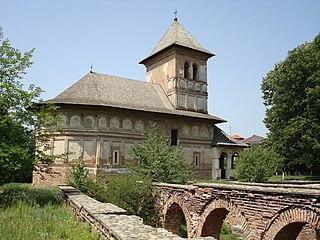 Strehaia Town in Mehedinți, Romania