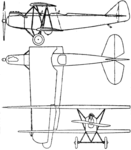 Raab-Katzenstein RK.2b 3-view Le Document aéronautique March,1929.png