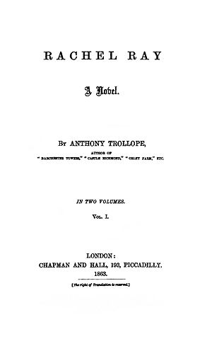 Rachel Ray (novel) - Image: Rachel Ray 1863 title page